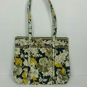 Vera Bradley Dogwood Shoulder Bag Black Yellow